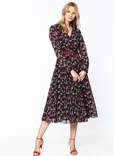 Çiçek Desenli Uzun Kloş Elbise-Tommy Hilfiger